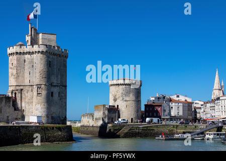 La Rochelle on the coast of the Poitou-Charentes region of France. - Stock Image