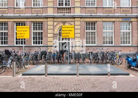 Subway emergency exit at Eerste Jacob van Campen straat in Amsterdam, the Netherlands - Stock Image