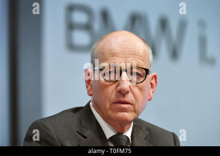 Munich, Germany. 20th Mar, 2019. Andreas WENDT (member of management, purchasing), single image, single motif, portrait, portrait, portrait, balance sheet Press conference BMW Group on 20.03.2019, carmaker, car, cars, automobiles, manufacturers, car industry, premium brand. | usage worldwide Credit: dpa picture alliance/Alamy Live News - Stock Image