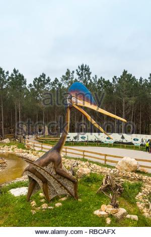 Quetzalcoatlus pterosaur model in the Dino Parque Lourinha Portugal - Stock Image