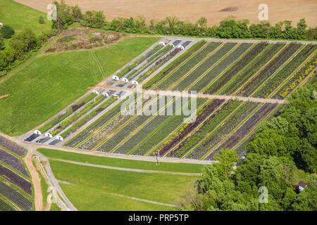 Aerial View of Farm, Pennsylvania, USA - Stock Image
