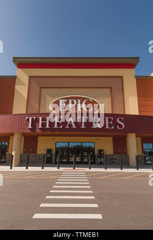 Epic Theatres Movie Theater Exterior Building Entrance - Stock Image