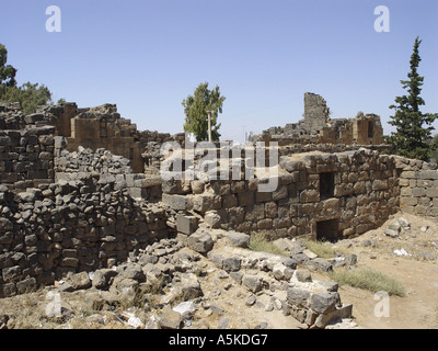 Ruins in bosra - Stock Image