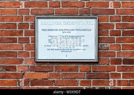 Bundesarchiv-Lichterfelde, German Federal Archives. Building housing historic archival documents in Finckensteinallee 63, Berlin.  Building history: C - Stock Image