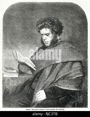 Hugh Miller (1802 - 1856), self-taught Scottish geologist and writer, folklorist and an evangelical Christian. - Stock Image