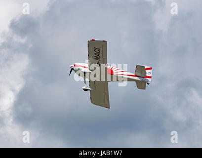 RV-7 Vans kit build aircraft departing its home base at Inverness Airport Scotland. - Stock Image
