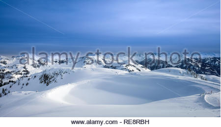Alps Panorama landscape view - Stock Image