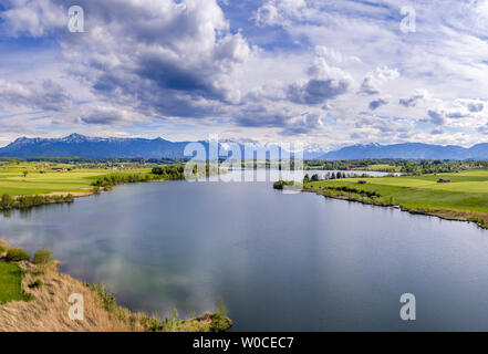 View at the Riegsee Lake in Bavaria, Germany - Stock Image