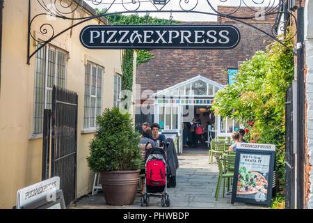 Pizza Express,Italian Restaurant,Best Lane,Canterbury,Kent,England - Stock Image