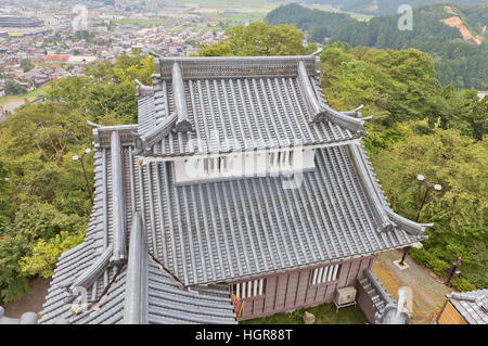 Reconstructed minor donjon of Echizen Ohno castle. Castle was founded in 1576 by Kanamori Nagachika, dismantled - Stock Image
