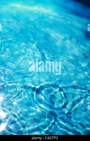 ripples in blue water - Stock Image