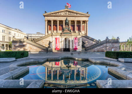 Old National Gallery, Old Museum, Museum Island, Berlin Mitte, Germany - Stock Image