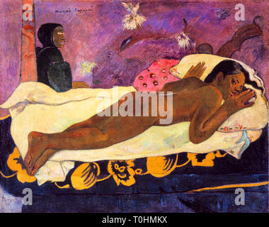 Paul Gauguin, The Spirit of the Dead Keeps Watch, painting, 1892 - Stock Image