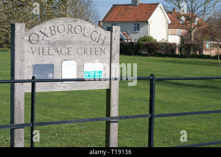 Oxborough village green, Norfolk - Stock Image