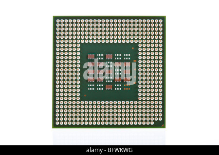 Computer CPU isolated on a white background - Stock Image