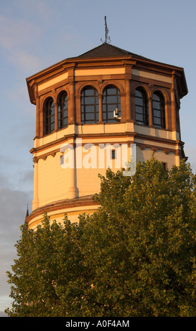 The Schlossturm Fronting the River Rhine in Dusseldorf Germany - Stock Image