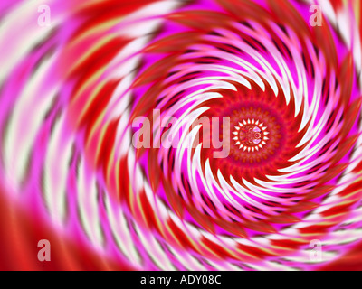 Pink and red twirl - Stock Image