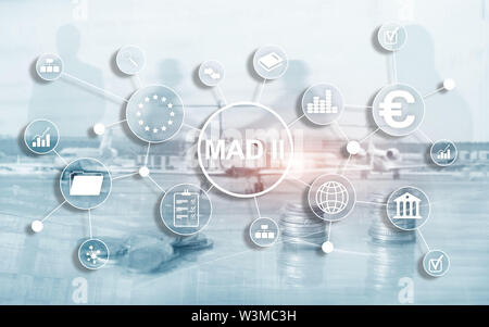 Market Abuse Directive and Abuse Regulation. MAD 2. Financial and economic concept. - Stock Image