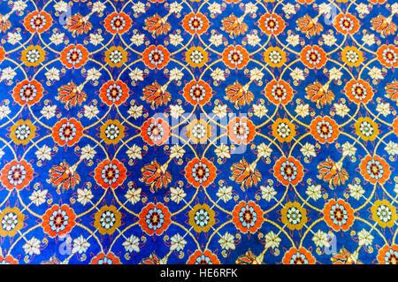 Heavily patterned carpet. - Stock Image