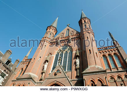 Gouda The Netherlands Neo Gothic Gouwekerk Church. - Stock Image