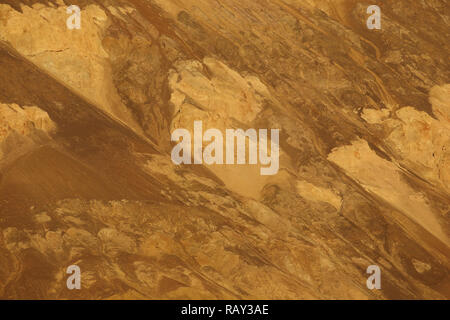 Abstract patterns at Artist's Drive at Death Valley, California, USA - Stock Image