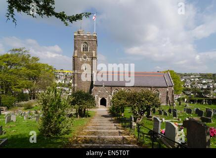Church of St. Peter Noss Mayo - Stock Image