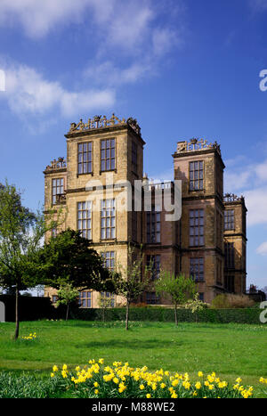 Hardwick Hall near Chesterfield, Derbyshire, England,UK. - Stock Image