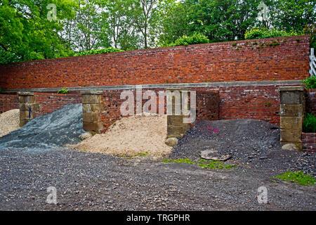 Ex Coal Drops at ex Thorpe Thewels Railway Station, Wynyard Woodland Park, North East England - Stock Image