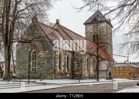 Var Frue, or Our Lady's,  church in the town of Trondheim in Norway. - Stock Image