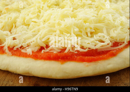 pizza dough and ingredient for baking - Stock Image