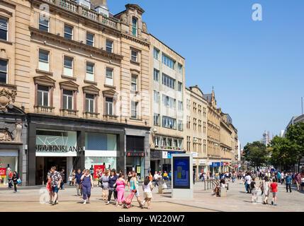 sheffield city centre fargate south yorkshire england gb uk eu europe - Stock Image