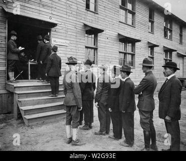Camp Upton, Yaphank, Long Island, Mustering Office ca. 1917-1918 - Stock Image