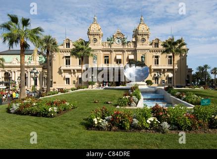 Monaco, Casino, Cote d'Azur - Stock Image
