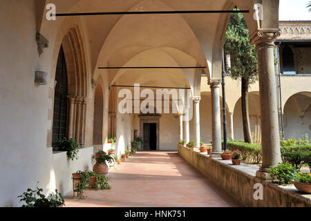 church of st augustine, san gimignano, tuscany, italy - Stock Image