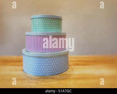 Traditional cake tins - Stock Image