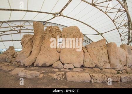 Hagar Qim temples, Malta - Stock Image