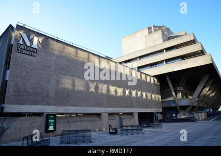 The national Theatre on London's Southbank - Stock Image