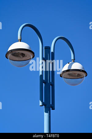 Lighting column (detail). Stone Jetty, Promenade, Morecambe, Lancashire, England, United Kingdom, Europe. - Stock Image