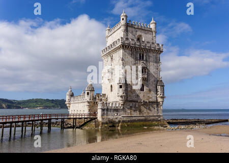 The Tower of Belém in Lisbon Portugal - Stock Image