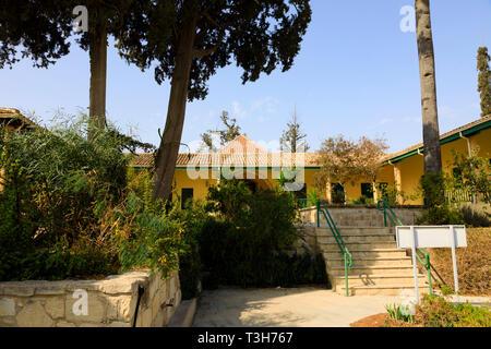 The inner courtyard of the Hala Sultan Tekke mosque, Larnaca, Cyprus October 2018 - Stock Image