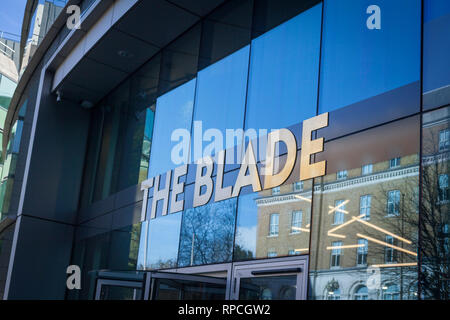 The main entrance to the Blade office development in reading, Berkshire. - Stock Image