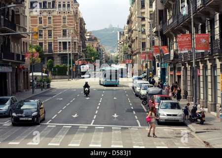 Barcelona street view, Catalonia, Spain - Stock Image