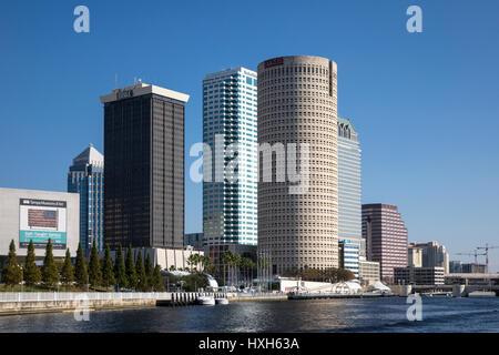 Tampa CBD buildings, Florida, USA - Stock Image