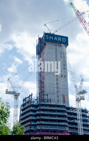 The Shard construction site on Bankside, London - Stock Image