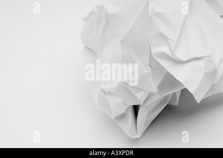 crumpled paper ball - Stock Image