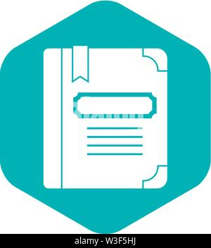 Tutorial with bookmark icon, simple style - Stock Image