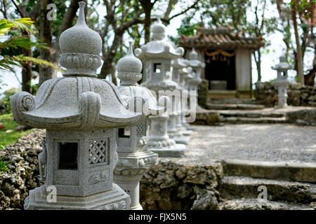 Built Structures In Front Of Temple At Ishigaki - Stock Image