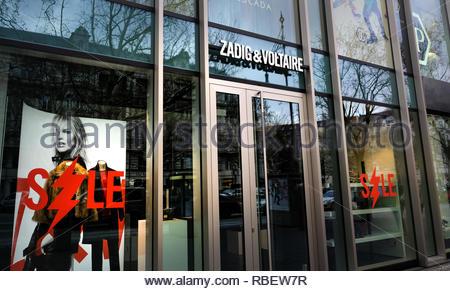 Zadig Voltaire store - Stock Image