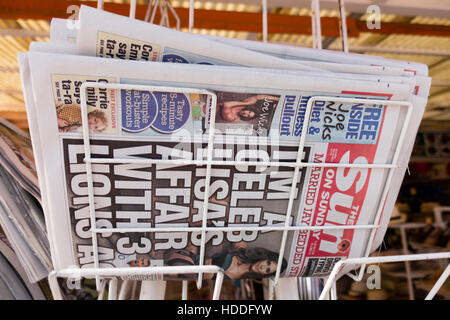 The Sun on Sunday for sale in Torremolinos, Costa del Sol, Andalucia, Spain - Stock Image