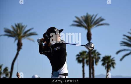 Rancho Mirage, California, USA. 2nd Apr, 2017. So Yeon Ryu of Korea during the final round of the ANA Inspiration - Stock Image